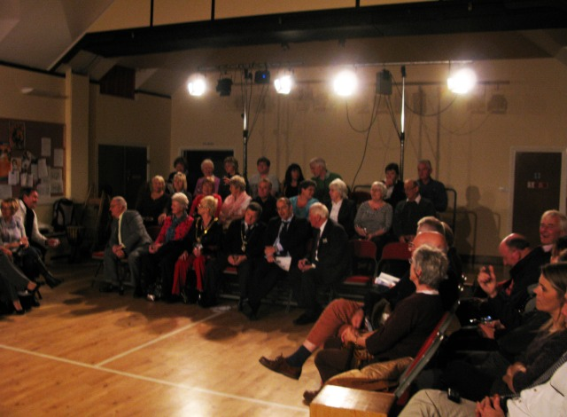 The audience at Feckenham Village Hall