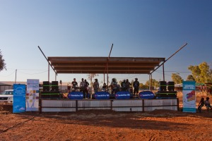 Outdoor stage in Australia
