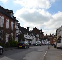 A street in Chaddesley Corbett village